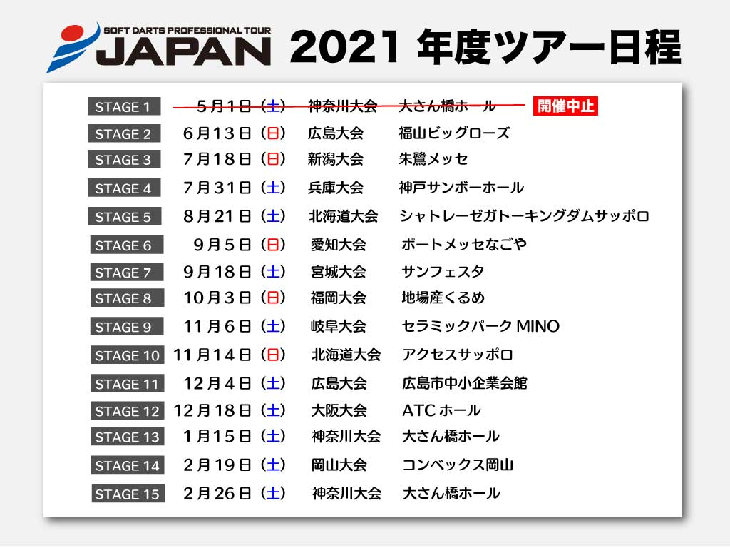 JAPAN2021開催予定